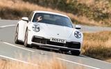 Porsche 911 Carrera S 2019 road test review - cornering front