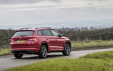 Skoda Kodiaq vRS 2019 road test review - driving rear