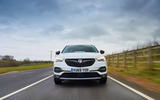 Vauxhall Grandland X Hybrid4 2020 road test review - on the road nose
