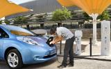 Charging the Nissan Leaf