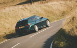 Alpina B3 Touring 2020 road test review - cornering rear