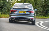 Audi S4 TDI 2019 road test review - cornering rear