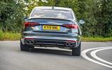 Audi S4 TDI 2019 road test review - cornering rear