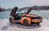 BMW i8 Roadster 2018 review static rear doors