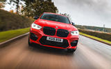 BMW X4 M Competition 2019 road test review - on the road nose