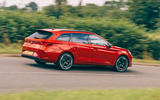 26 Cupra Leon Estate 2021 road test review on road side