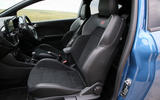 Ford Fiesta ST 2018 road test review front seats