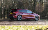 Ford Focus ST-line X 2019 road test review - on the road rear side
