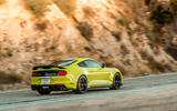 Ford Shelby Mustang GT500 2020 road test review - cornering rear