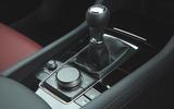 Mazda 3 Skyactiv-X 2019 road test review - gearstick