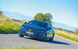 Peugeot 508 2018 road test review - cornering front