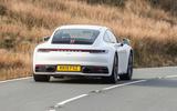 Porsche 911 Carrera S 2019 road test review - cornering rear