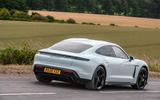 Porsche Taycan 2020 road test review - on the road rear
