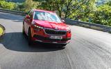 Skoda Kamiq 2019 road test review - cornering front