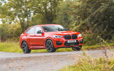 BMW X4 M Competition 2019 road test review - cornering front