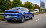 BMW X6 M50i 2019 road test review - on the road rear