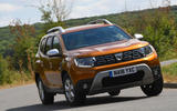 Dacia Duster 2018 road test review cornering front