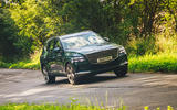 27 Genesis GV80 2021 road test review cornering front