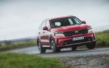 27 Kia Sorento 2021 road test review on road front