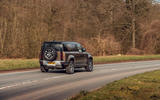 Land Rover Defender 2020 road test review - on the road rear