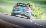 Volkswagen T-Roc Cabriolet 2020 road test review - on the road rear