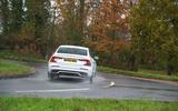 Volvo S60 Polestar Engineered 2020 road test review - cornering rear