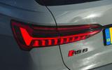 Audi RS6 Avant 2020 road test review - rear lights