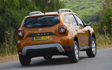 Dacia Duster 2018 road test review cornering rear