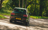 28 Genesis GV80 2021 road test review cornering rear