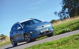 Hyundai Kona Electric 2018 road test review - cornering front