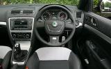 Skoda Octavia vRS steering wheel
