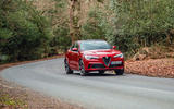 Alfa Romeo Stelvio Quadrifoglio 2019 road test review - cornering front