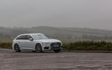 Audi A6 Avant 2018 road test review - cornering front