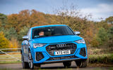 Audi RS Q3 Sportback 2020 road test review - cornering front