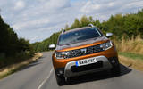Dacia Duster 2018 road test review on the road front