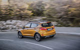 Ford Fiesta Active 2018 road test review cornering rear
