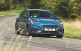 Ford Focus ST 2019 road test - cornering front