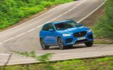 Jaguar F-Pace SVR 2019 road test review - cornering front
