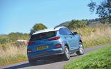 Hyundai Kona Electric 2018 road test review - cornering rear