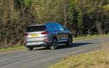 Hyundai Santa Fe 2019 road test review - on the road rear