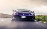 Lamborghini Aventador SVJ 2019 road test review - on the road nose