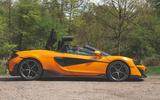 McLaren 600LT Spider 2019 road test review - roof