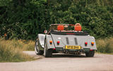 Morgan Plus Six 2019 road test review - cornering rear