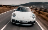 Porsche 911 Carrera S 2019 road test review - on the road action
