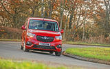 Vauxhall Combo Life 2018 road test review - cornering front