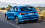 Audi A3 Sportback 2020 road test review - hero rear