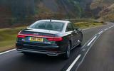 Audi A8 60 TFSIe 2020 road test review - hero rear