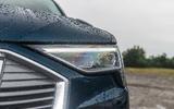 Audi E-tron 55 Quattro 2019 road test review - headlights