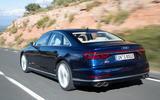Audi S8 2020 road test review - hero rear