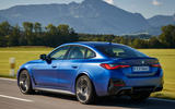 3 BMW i4 M50 2021 first drive review tracking rear